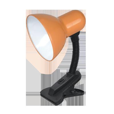 Светильник настольный под лампу  СНП-11О на прищепке 40Вт E27 ОРАНЖЕВЫЙ (коробка) IN HOME