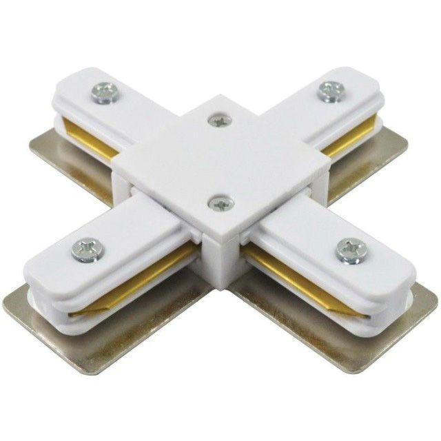Коннектор для трекового светильника XC-1 Х-образный белый LLT