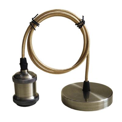 Патрон Е27-ПШ-deco подвесной шнур 1м  Бронза IN HOME