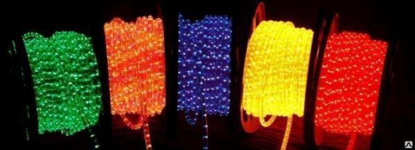 Дюралайт  LED Желтый, круглый, 3 жилы