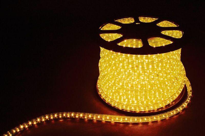 2W 100м 13мм 230V 36LED/м 1,44Вт/м (2м/отрез), 2 аксесс., желтый/ LED-R2W