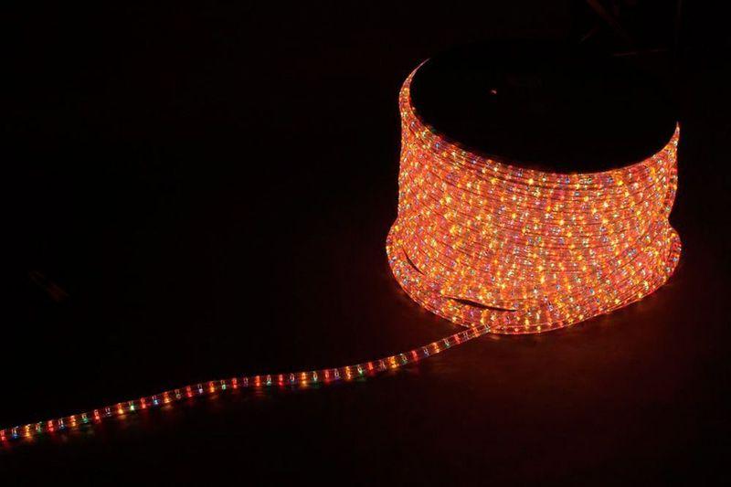 3W 50м квадр. 11х17мм 230V 72LED/м 2,88Вт/м, (2м/отрез), 2 аксесс., синий-красный / LED-F3W