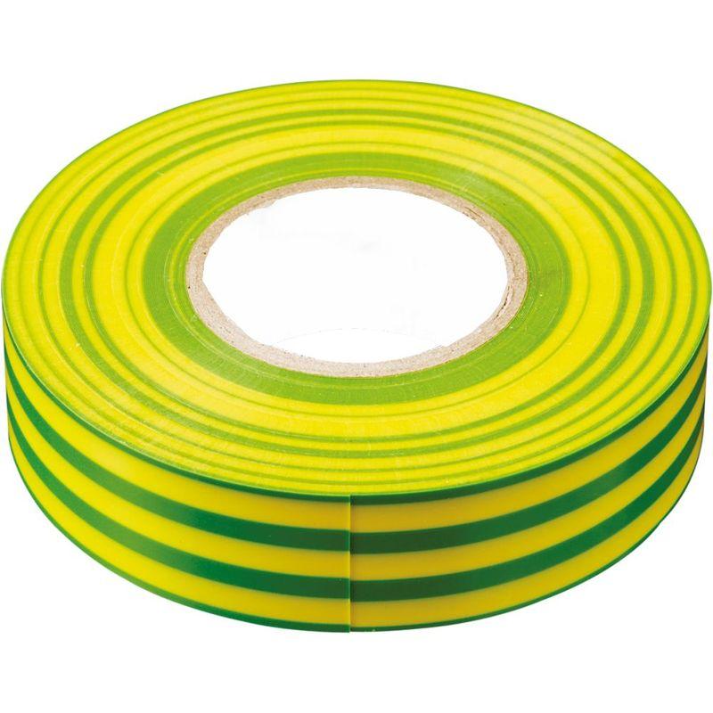 INTP01315-10 изоляционная лента 0,13*15 мм. 10 м. желто-зеленая