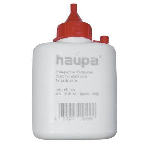 Цветной мелованный порошок в пластиковой бутылке, красный