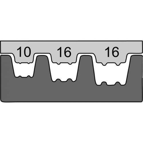 Насадка для обжимных клещей 211672  для конечных гильз 10-25