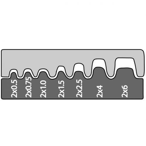 Насадка для обжимных клещей 211676 для спаренных конечных гильз 2x0,5/0,75/1