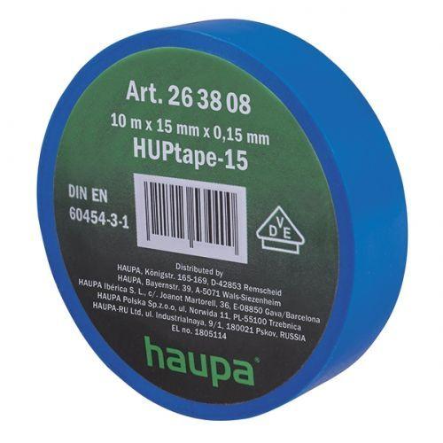 Изолента ПВХ, цвет синий, шир. 15мм, длина 10 м, d 60 мм