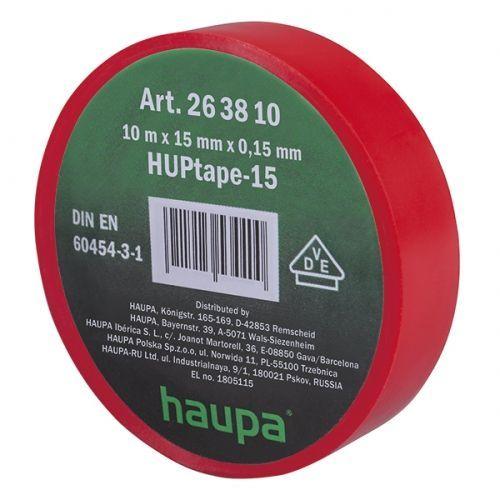 Изолента ПВХ, цвет красный, шир. 15мм, длина 10 м, d 60 мм