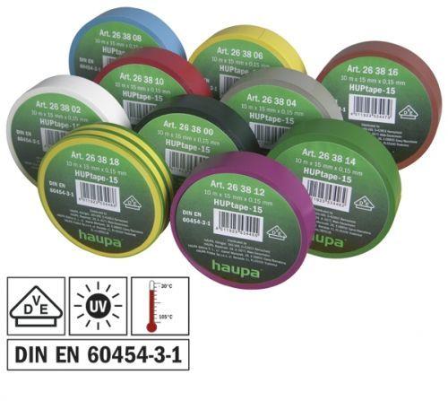 Изолента ПВХ, цвет радужный, шир. 15мм, длина 10 м, d 60 мм, упаковка 10 штук, цена за упакову