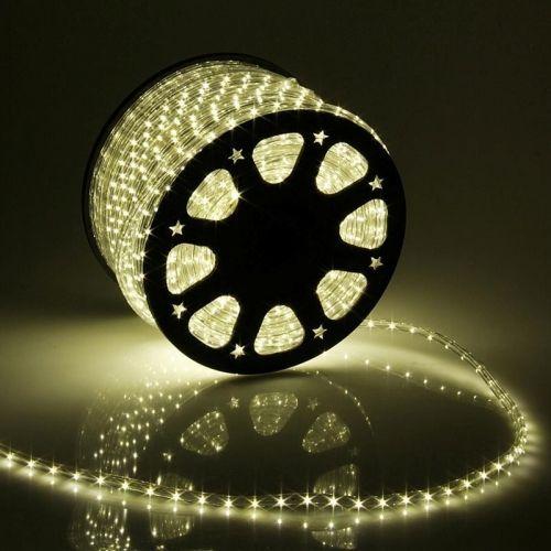 Дюралайт  LED Теплый белый, круглый, 3 жилы