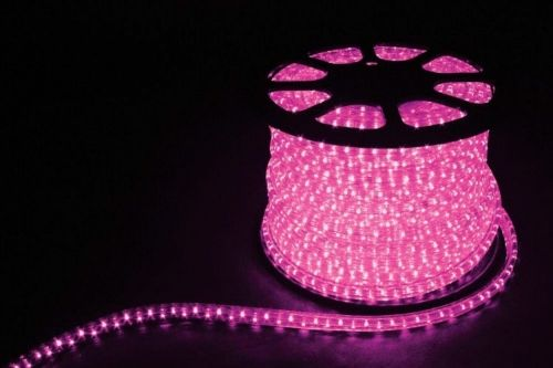 Дюралайт  LED Розовый, круглый, 3 жилы