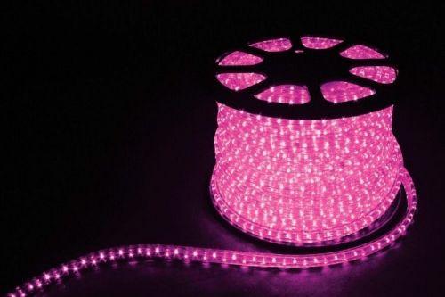 Дюралайт LED Розовый, квадратный, 3-жилы