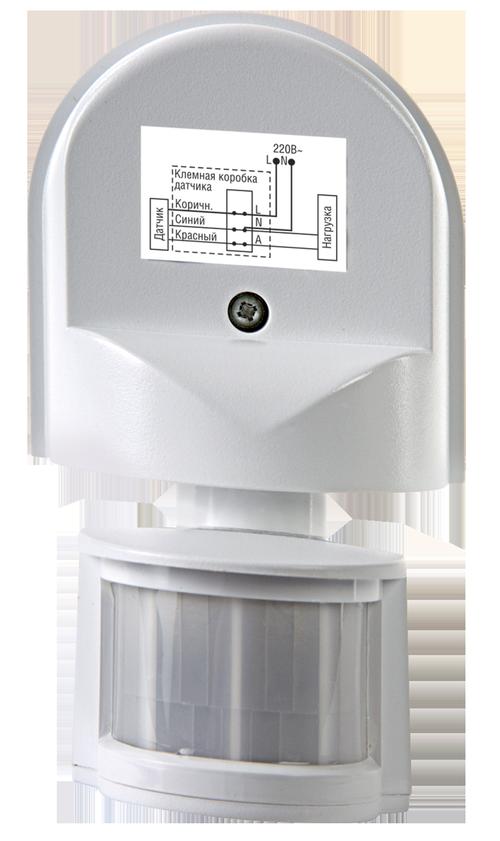 Датчик движения инфракрасный ДД-008-W 1200Вт 180 гр.12м IP44 белый LLT