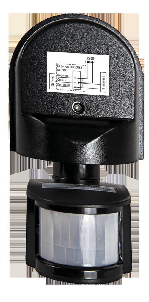 Датчик движения инфракрасный ДД-008-B 1200Вт 180 гр.12м IP44 черный LLT