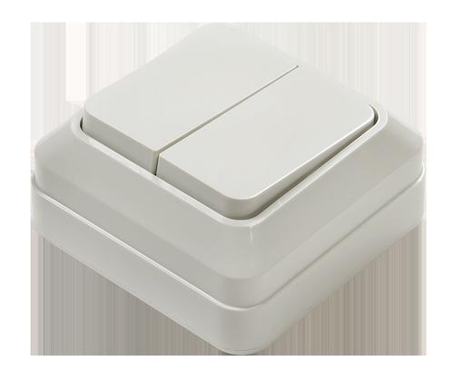 Выключатель 2кл BOLLETO  белый накл 7023