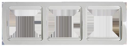 Рамка 3ая CLASSICO  белая 2303H
