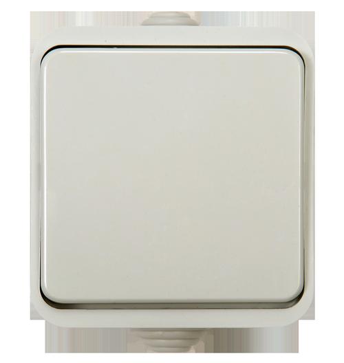 Выключатель 1кл AQUA  белый п/герм 3100