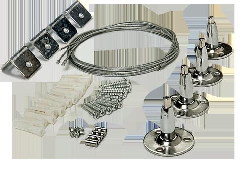 Комплект подвесов LP-КПТ на тросах для панели светодиодной LLT