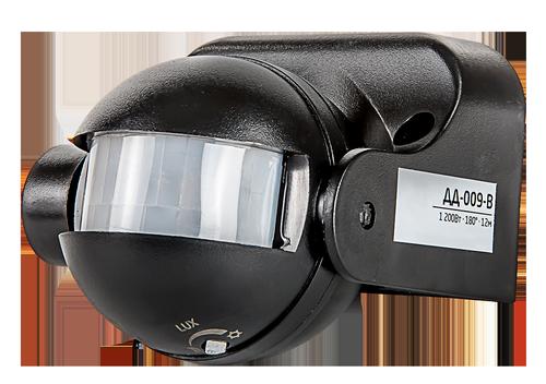 Датчик движения инфракрасный ДД-009-B 1200Вт 180 гр.12м IP44 черный LLT