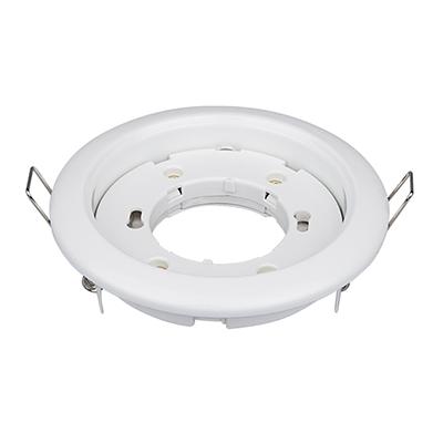 Светильник встраиваемый GX53R-RW-mini ультратонкий металл под лампу GX53 230В белый IN HOME