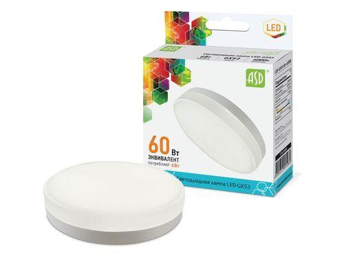 Лампа светодиодная LED-GX53-standard 6Вт 230В 6500К 540Лм ASD