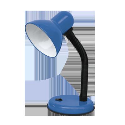 Светильник настольный под лампу  СНО-02С на основании 60Вт E27 СИНИЙ (мягкая упак.) IN HOME