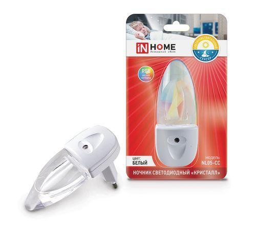 Ночник светодиодный NL05-CC Кристалл 230В RGB IN HOME