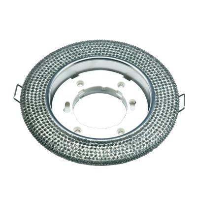 Светильник встраиваемый GX53R-R02L-crystal под лампу GX53 с подсветкой Тонированный/ Хром IN HOME