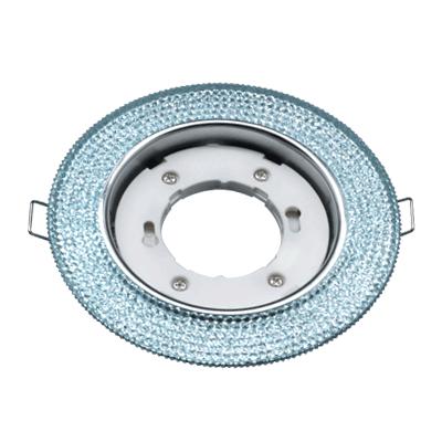 Светильник встраиваемый GX53R-R22L-crystal под лампу GX53 с подсветкой Голубой/Хром IN HOME