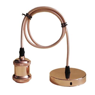 Патрон Е27-ПШ-deco подвесной шнур 1м  Медь IN HOME