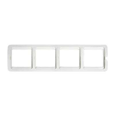 Рамка 4ая горизонтальная CLASSICO белая 2304H  IN HOME