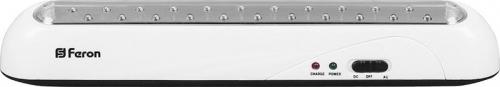 EL14 22 LED аккум.светильник AC/DC (литий-ионная батарея), белый 350 *50*55 мм
