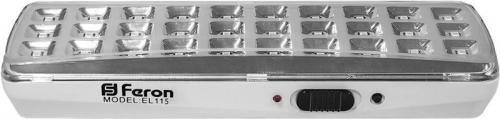 EL115 30LED аккум.светильник DC (литий-ионная батарея), белый 205*65*30 мм