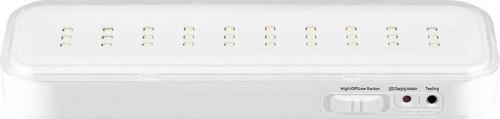 """EL120 30LED аккум.светильник AC/DC (литий-ионная батарея), белый, с наклейкой """"Выход"""", 200*60*20 мм"""