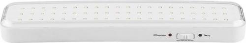 """EL121 60LED аккум.светильник AC/DC (литий-ионная батарея), белый, с наклейкой """"Выход"""", 330*73*30 мм"""