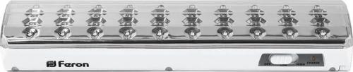 EL21 40 LED аккум.светильник DC (литий-ионная батарея), белый 258*67*42 мм