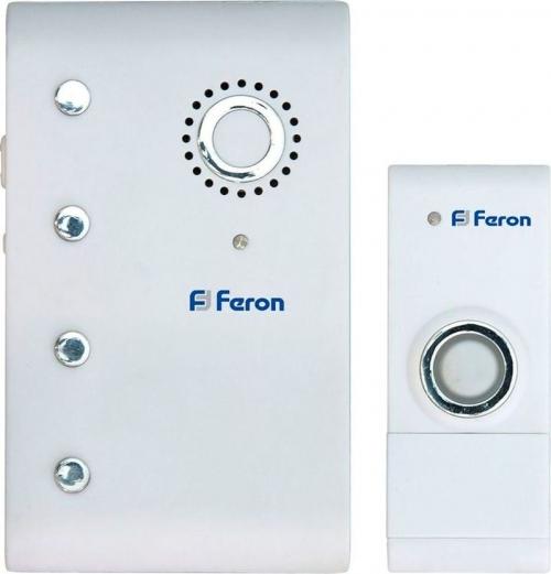 E-367 (DB607) звонок (кнопка IP44) 35 мелодий, 2*1,5V/АА, 315МНz, белый
