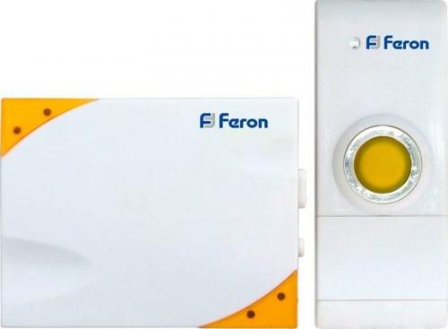 E-369 (DB609) звонок (кнопка IP44) 35 мелодий, 2*1,5V/ААА, 315МНz, белый, желтый