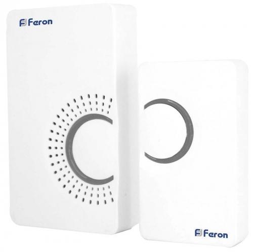 E-373 звонок IP20 36 мелодий, 2*1,5V/ААА (база), белый, серый