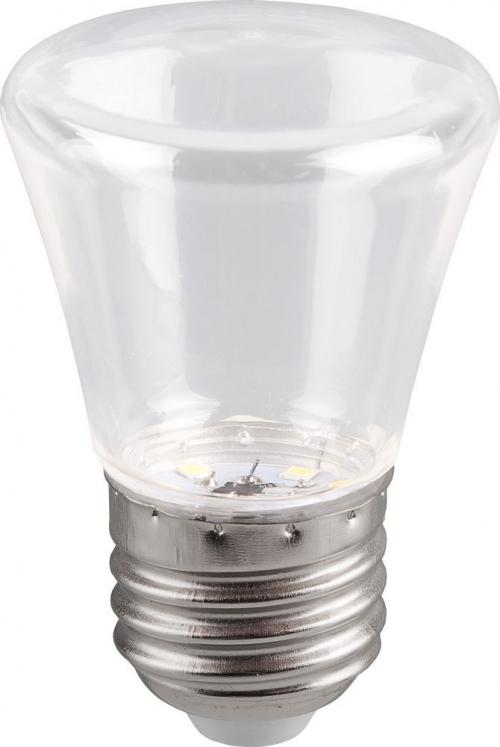 LB-372 (1W) 230V E27 6400K для белт лайта С45 колокольчик прозрачный