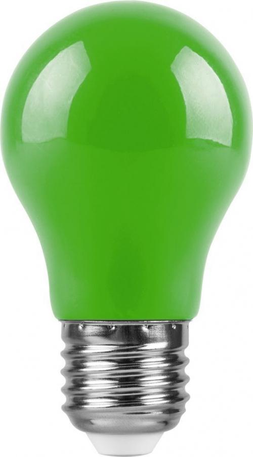 LB-375 (3W) 230V E27 зеленый для белт лайта A50