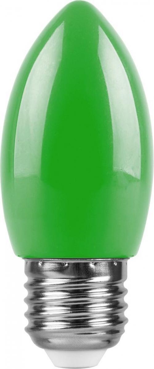 LB-376 (1W) 230V E27 зеленый свеча для белт лайта