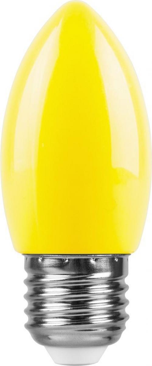 LB-376 (1W) 230V E27 желтый свеча для белт лайта