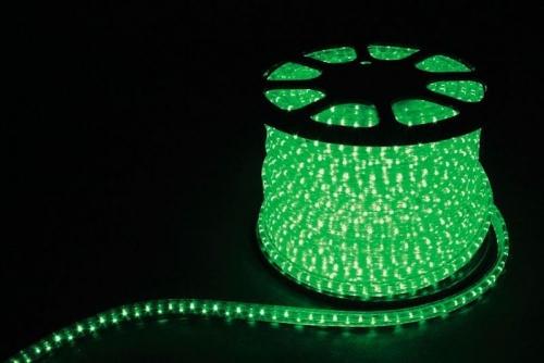 2W 100м 13мм 230V 36LED/м 1,44Вт/м (2м/отрез), 2 аксесс., зеленый/ LED-R2W
