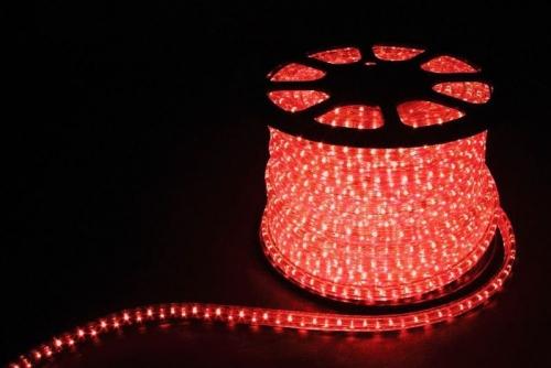 3W 50м квадр. 11х17мм 230V 72LED/м 2,88Вт/м, (2м/отрез), 2 аксесс., красный/ LED-F3W