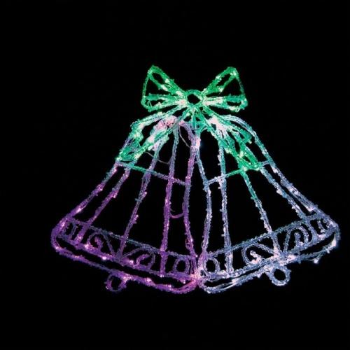 """LT012 световая фигура """"колокольчики"""" , 126 LED белый+зеленый+розовый, 59*8*46см, IP20"""