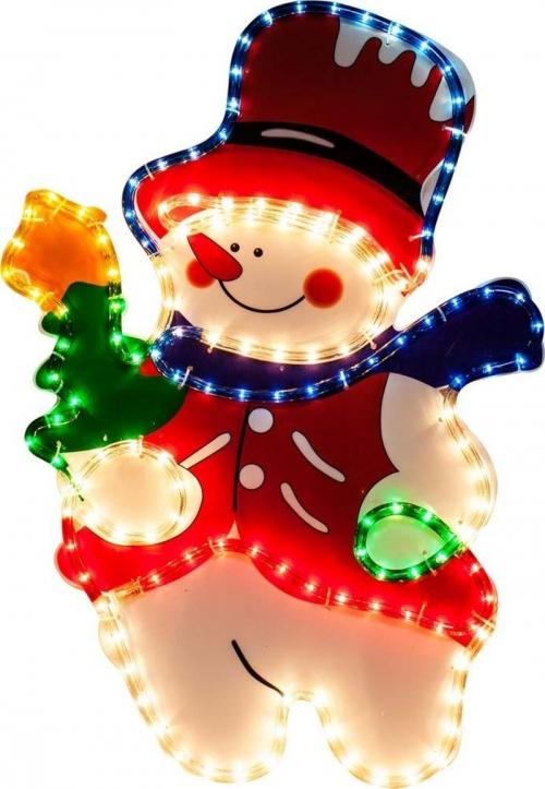 """LT019 световая фигура """"снеговик"""", 4м лампы мульти, 36 ламп/1м, 45*67см, IP44"""
