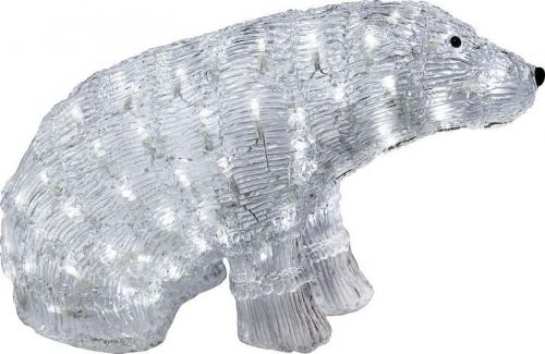 """LT023 световая фигура """"медведь большой"""", 96 LED белый, 50*25*30см, IP20"""