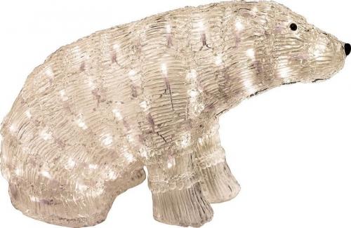 """LT023 световая фигура """"медведь большой"""", 96 LED теплый белый,  50*25*30см, IP20"""