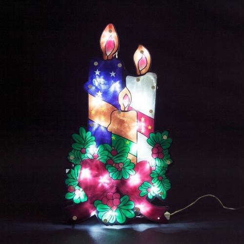 "LT031 световая фигура ""3 свечи"", 20 LED (белый),  44*24*2 см, IP20"